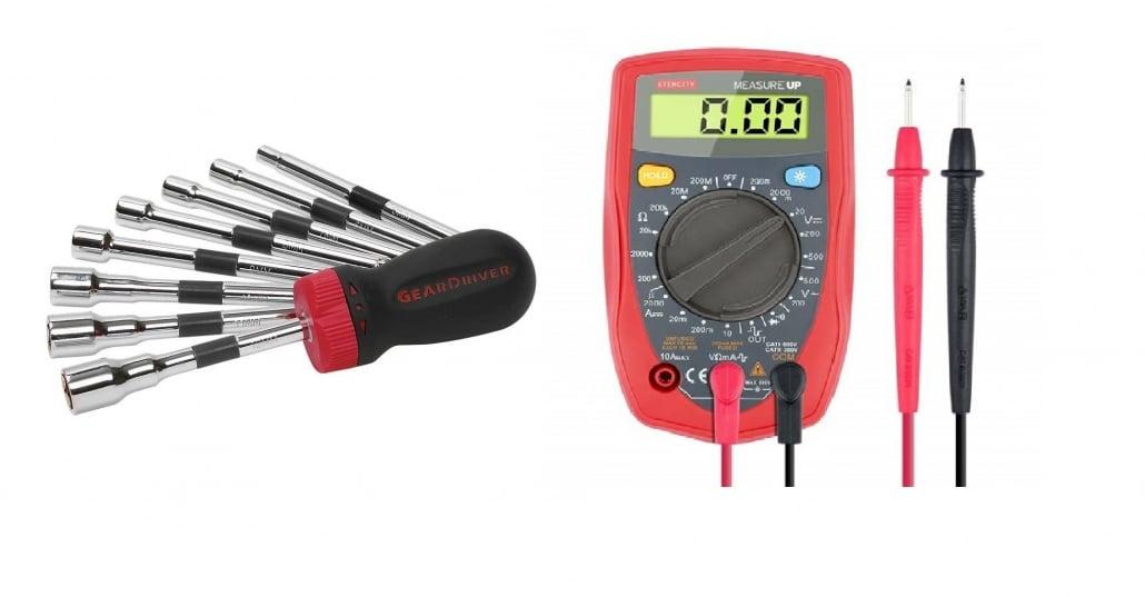 screwdriver and multi-meter