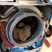 washer while repaired