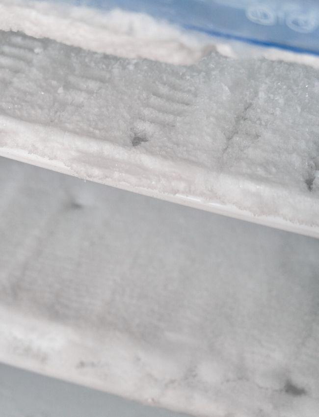 ice build-up in freezer